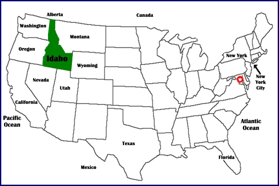 Idaho Maps Series View of Idaho in United States The IDGenWeb Project